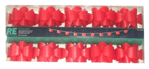 Room Essentials String Lights Red 3-D Flowers