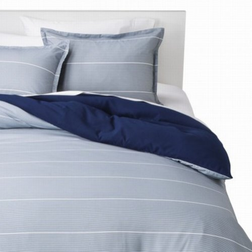Light pink and gray curtains - Room Essentials Twin Xl Blue Amp Gray Thin Stripe Reversible Comforter