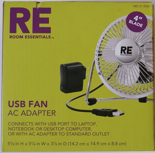 Room Essentials USB Fan - Silver