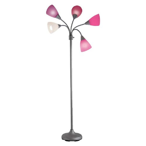 "Room Essentials® 5-head Floor Lamp Pink 73.0 "" H X 11.0 "" W X 11.0 "" D"