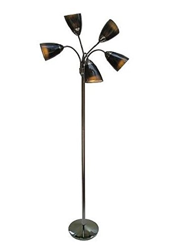 "Room Essentials® 5-head Floor Lamp Black 73.0 "" H X 11.0 "" W X 11.0 "" D"